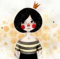 Queen Bee. A Illustration project by Alexia Viñambres Pleguezuelo         - 16.10.2014