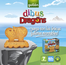 Gullón. PLV lanzamiento Dibus Dragons. A Design, Illustration, Art Direction, and Graphic Design project by Patricia  Berthier         - 30.06.2014