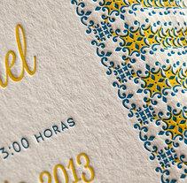 Invitaciones de Boda  - N&M. Un proyecto de Diseño, Eventos, Diseño gráfico y Tipografía de María Sanz Ricarte - 14-06-2013