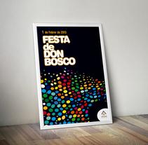 Cartel Festa de Don Bosco. Un proyecto de Diseño editorial y Eventos de Bruno Mayol         - 30.11.2012