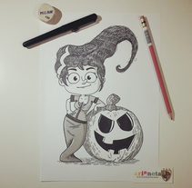 Inktober 2014. A Illustration, Character Design, and Fine Art project by Ariadna Reyes         - 10.11.2014