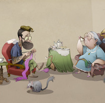 Hipster y Abuela. A Illustration, and Character Design project by alicia borges  - Dec 02 2014 12:00 AM