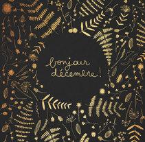 December gold foil poster. Um projeto de Ilustração e Design gráfico de Nathalie Ouederni         - 02.12.2014