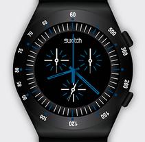 Ilustración reloj Swatch. A Design, Illustration, and Graphic Design project by Paloma Alcázar Morán - 01-11-2014