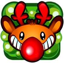 Farty Rudolph mobile game. A Software Development, Character Design, and Game Design project by nofuturegames - 24-12-2014