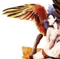 Hombre faro, mujer gaviota. A Illustration, and Fine Art project by Marina Eiro - 11-01-2015