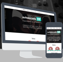 Autoescuela VIP - Responsive Web Design. A UI / UX, and Web Design project by Laura Belore         - 01.01.2015