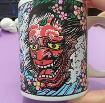 Japanese style mug / Taza estilo japonés. Um projeto de Artes plásticas de Laura Portolés Moret - 13-01-2015