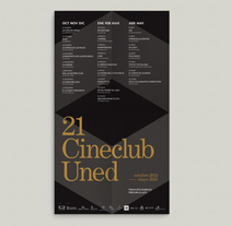 21 Cineclub UNED. A Editorial Design, and Graphic Design project by rmk - 12-10-2014