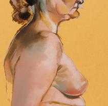 Model drawing / Dibujo de modelo. A Fine Art project by Laura Portolés Moret - 25-01-2015