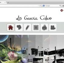 Lis García Calvo ( Página web ). Um projeto de Br, ing e Identidade, Web design e Desenvolvimento Web de Lis  García Calvo         - 28.01.2015