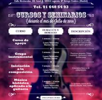 Acordes Escuela de Música. Cartelería. Un proyecto de Publicidad, Dirección de arte y Diseño gráfico de Slogan Estudio Diseño Gráfico y Publicidad          - 15.02.2015