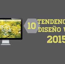 Infografía tendencias de diseño web 2015. A Web Design project by estudio - 18-02-2015