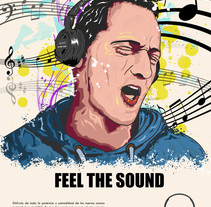Headphones Sony. A Illustration, Advertising, Photograph, and Graphic Design project by Juan Castillejo Gómez         - 18.02.2015