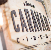 Caravan Cinema. A Br, ing, Identit, Graphic Design, and Web Design project by Crisiscreativa  - Jul 01 2014 12:00 AM