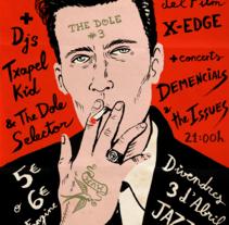 Cartel para la presentación del nuevo fanzine The Dole. Un proyecto de Diseño, Ilustración, Bellas Artes, Diseño gráfico, Tipografía y Caligrafía de Adrià Ferrer Marquès - 24-02-2015