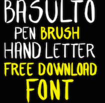 Basulto Hand Letter Free. A Design, Illustration, Art Direction, T, and pograph project by David Perez Basulto         - 24.02.2015