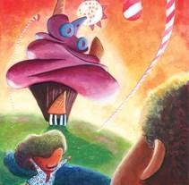 "Ilustración Infantil con Pop Up: ""Hansel, Gretel y la Casita de la Libertad"". Um projeto de Ilustração e Pintura de Laura Larxé         - 02.03.2015"