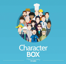 CharacterBox. A Illustration, Character Design, and Graphic Design project by Ervin   - 05-03-2015