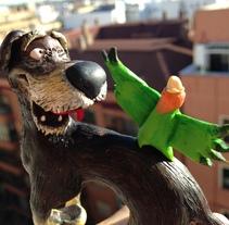 Oso, Nil y Cake. Um projeto de Design de personagens, Artes plásticas e Escultura de Cristina DM Marín - 07-03-2015