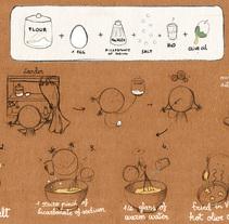 Receta de las tontonas. Um projeto de Ilustração e Artes plásticas de Cristina DM Marín - 07-03-2015