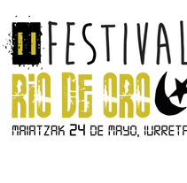 "Cartel ""Festival Rio de Oro"". Um projeto de Design, Publicidade, Eventos e Design gráfico de Mikel del Arco Zumarraga         - 14.05.2014"