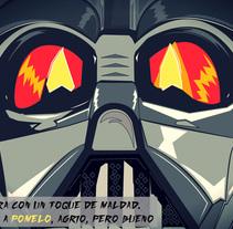 Mi Proyecto del curso Ilustra con garra y vencerás (Seven Up y Darth Varder). Un proyecto de Publicidad y Diseño gráfico de Sara García Muntó         - 09.03.2015