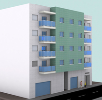 Edificio de viviendas_GAT_2014. A 3D, and Architecture project by María Soto - 22-03-2015