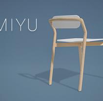 MIYU chair. Un proyecto de Diseño y Diseño de muebles de Néstor Cristian Picazo Vizuete         - 24.03.2015