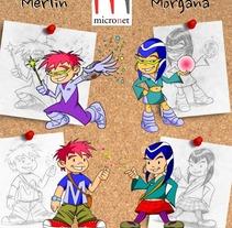 Merlin & Morgana. Un proyecto de Diseño de personajes, Educación e Ilustración de Pablo Alcalde  - Martes, 07 de abril de 2015 00:00:00 +0200