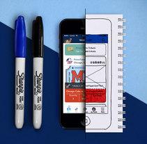 Diseño UX/UI de aplicación móvil . Un proyecto de UI / UX de Lucía Guedes de Rezende         - 13.04.2015