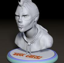 Mi Proyecto del curso Modelado de personajes en 3D . Un proyecto de 3D, Diseño de personajes, Escultura y Comic de Juanma Díaz Bermúdez         - 19.04.2015