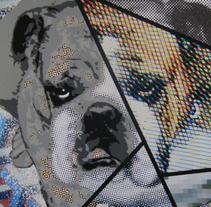 Estarcido e impresión sobre cartón. Um projeto de Ilustração, Artesanato, Artes plásticas, Design gráfico, Pintura e Colagem de CHRIS MILLA /1D34L         - 19.04.2015