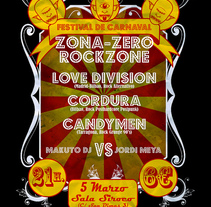 Carteles realizados para el Festival Zona-Zero/Rockzone. A Design, Editorial Design, and Graphic Design project by Pedro Moleón Casaos         - 04.03.2012