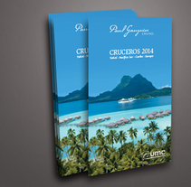 Cuadrípticos Paul Gauguin Cruises. A Design, Art Direction, Design Management, Editorial Design, and Graphic Design project by Àngela Curto - 03-01-2014