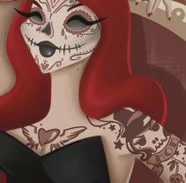 Mexican Skull. Un proyecto de Ilustración de Elisabeth Castro Martínez - 19-05-2015