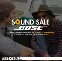 Campaña Sound Sale Bose. A Design, and Web Development project by David Pérez Baeza         - 24.05.2015