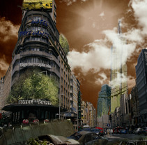 Ciudad apocalipsis Madrid. A Design, Illustration, and Graphic Design project by Andrea Peña - 24-05-2015