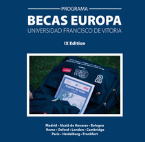 Folleto Becas Europa. A Editorial Design project by Sara  Pantoja Gil - May 31 2015 12:00 AM