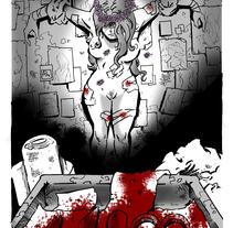 """Ilustración para """"Corona de margaritas"""", relato de la revista Ánima Barda (Ed. Pulpture). Um projeto de Ilustração de Alberto Peral Alcón - 31-05-2015"""