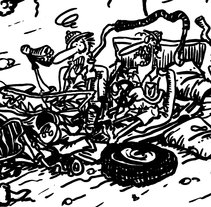 """Viñeta """"Senda de los elefantes"""". Un proyecto de Comic de Miguel Angel Arqués Orobón         - 01.06.2015"""