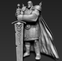 CARTOON KNIGHT WIP. A Character Design, Graphic Design, and Sculpture project by Javier Fabuel         - 03.06.2015