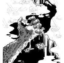 Ilustración para El Mundo es Atroz (fanzine de Ciencia-Ficción). Un proyecto de Ilustración de Alberto Peral Alcón         - 11.06.2015