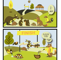 Parkrun comic. A Design, Illustration, Character Design, Fine Art, and Comic project by Isabel Martín         - 09.06.2015