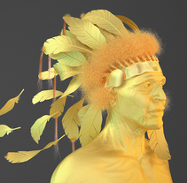 GOLDEN FEATHER. A 3D, Editorial Design, Illustration, T, and pograph project by David Elósegui - 06.16.2015