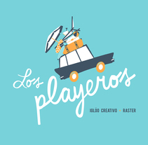 Los playeros. A Graphic Design, Illustration, and Screen-printing project by Iglöo  - Jun 18 2015 12:00 AM