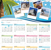 Calendario Oropesa del Mar 2016. A Graphic Design project by Juliana Muir         - 18.02.2015