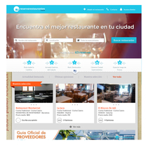 Boceto web reservarestaurantes.com. Un proyecto de Diseño Web de Ernesto Jiménez         - 09.11.2014