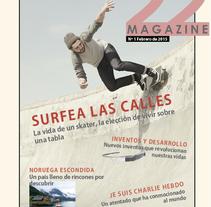 """Revista """"22 Magazine"""". Un proyecto de Diseño, Diseño editorial y Diseño gráfico de Rebeca Laque         - 21.03.2015"""