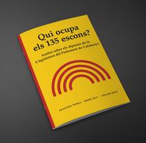 Qui ocupa els 135 escons?. Un proyecto de Diseño editorial y Diseño gráfico de Bruno Mayol - 30-06-2015